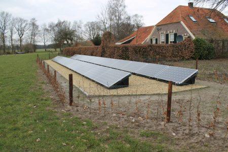 zonnepanelen op de grond