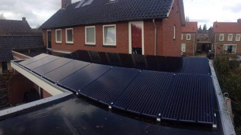 Portrait zonnepanelen schuin dak