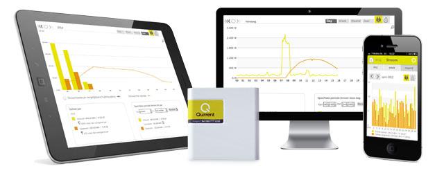 extern (Qbox) energiemonitor - mobiele apparaten