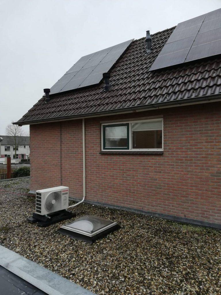 Zonnepanelen en warmtepomp in Hardenberg