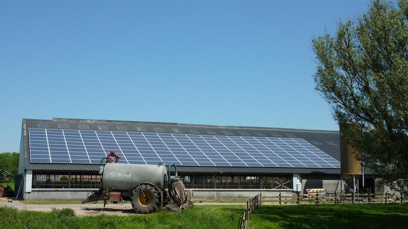 Zonnepanelen plat dak bedrijf