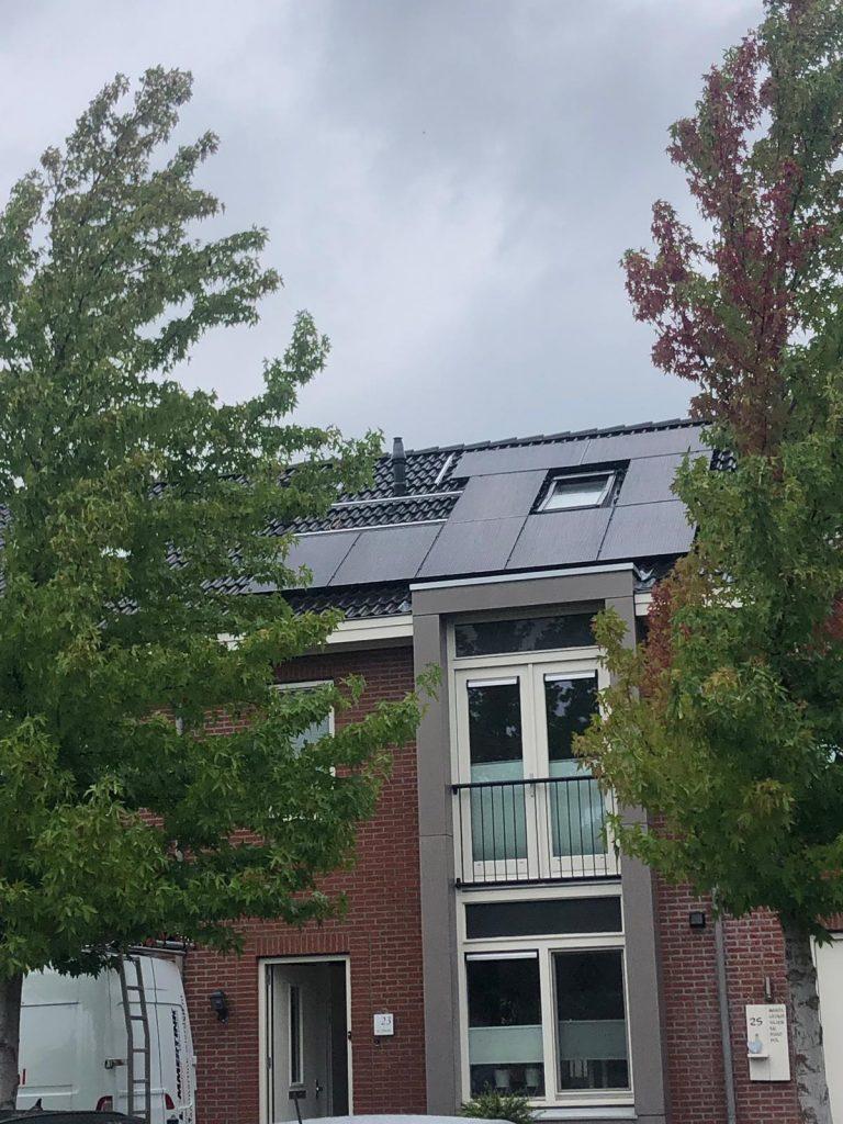 Zonnepanelen en warmtepomp in Wierden
