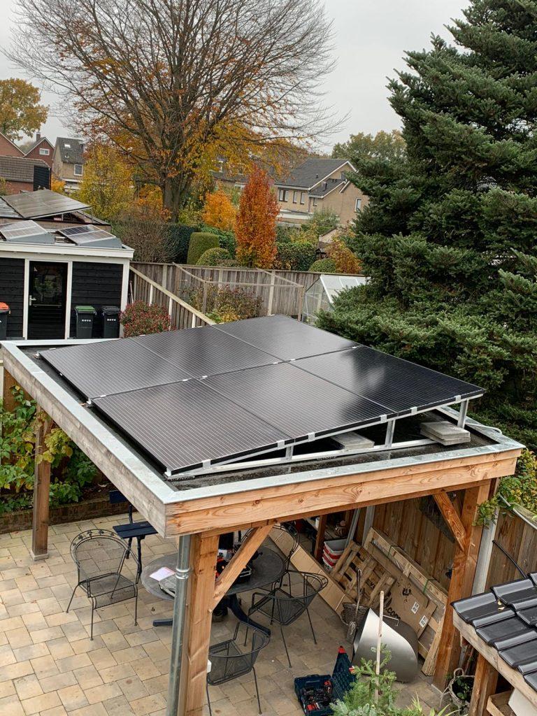 Uitbereiding zonnepanelen op maatwerkframe in Enter